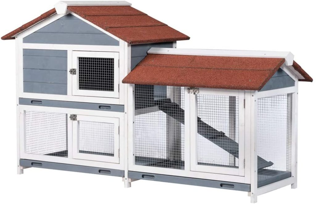 best-rabbit-hutches-Good-Life-Two-Floors-Wooden-Waterproof-Bunny-Hutch