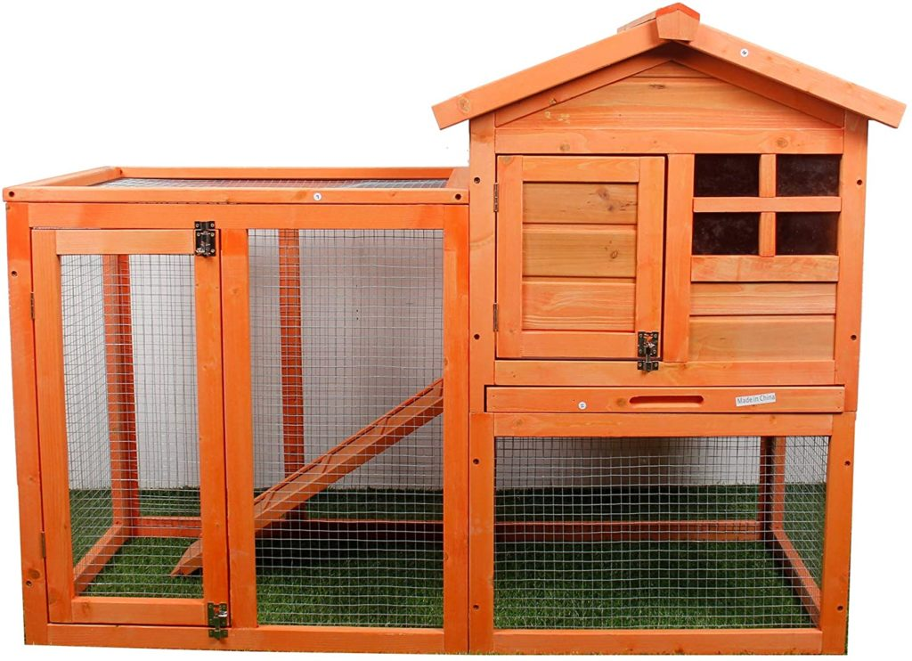 best rabbit hutches - PURLOVE Rabbit Hutch Wood House