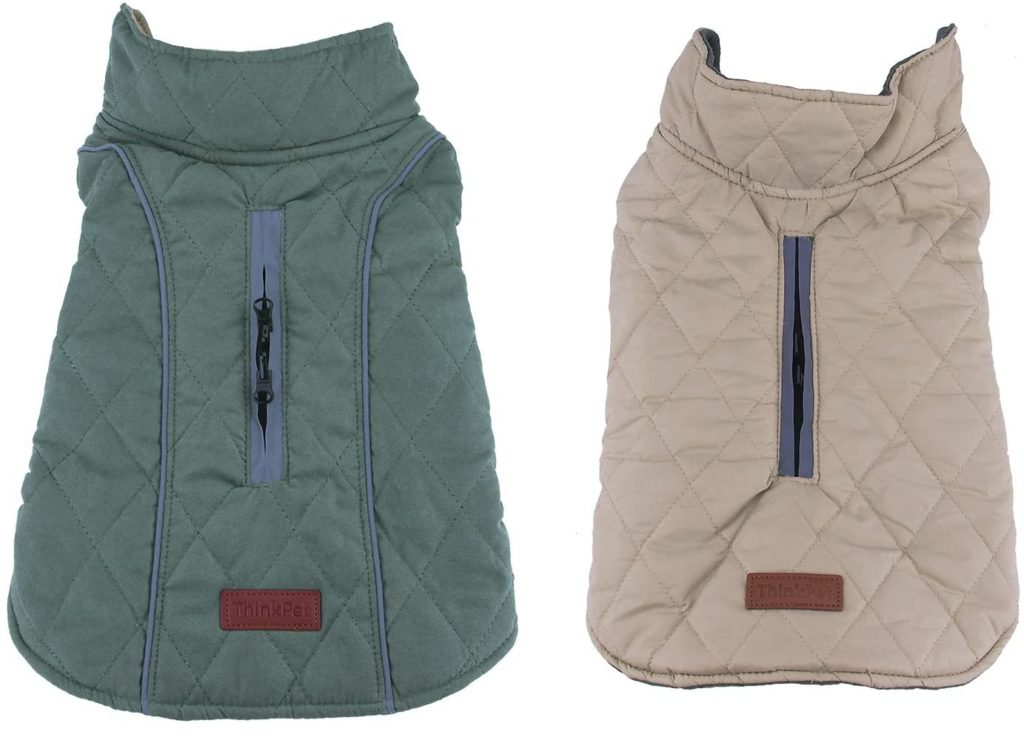 best winter jackets for dogs - ThinkPet Warm Reversible Dog Coat