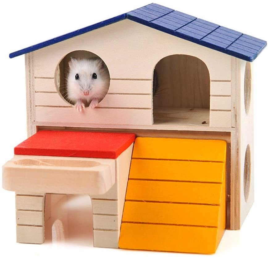 best hamster toys - BWOGUE Pet Small Animal Hideout Hamster House