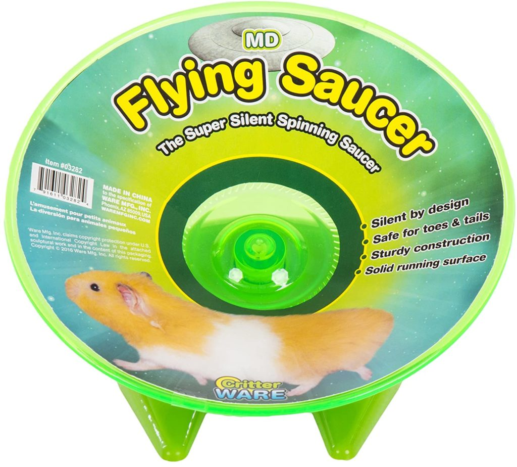 best hamster toys - Ware Manufacturing Flying Saucer Exercise Wheel for Small Pets