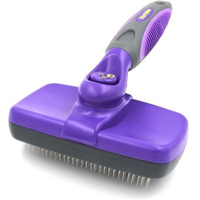 Brushes For Cats - Hertzko Self Cleaning Slicker Brush