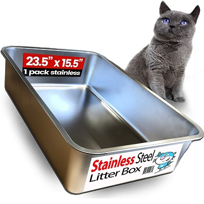 Cat Litter Box - iPrimio Ultimate Stainless Steel